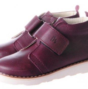 Ботинки дизайнерские кожаные демисезонные Mrugala вишня
