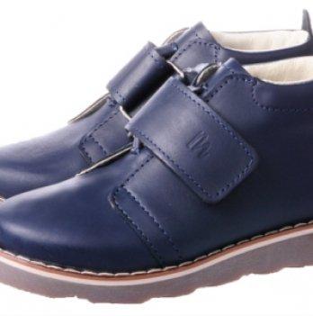 Ботинки дизайнерские кожаные демисезонные Mrugala синие