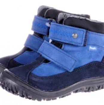 Ботинки демисезонные кожа Mrugala сине-голубой