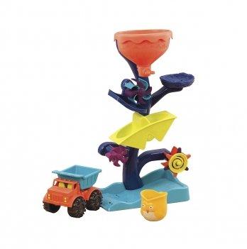 Набор для игры с песком и водой Battat Summery Мельница машинка, ведерце