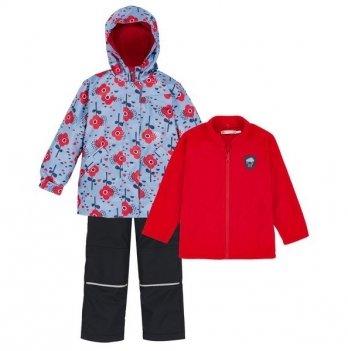 Демисезонный костюм 3 в 1 (куртка, штаны, флисовая кофта) Deux par Deux W 59-482