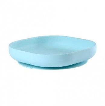 Силиконовая тарелка Beaba синий