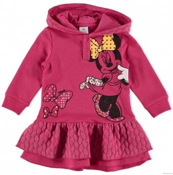 Платье с капюшоном BRUMS с контрастными вставками Дисней Минни розовое