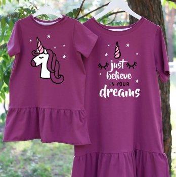 Фэмили лук платья Jolly Bully для Мамы и Дочки Единороги