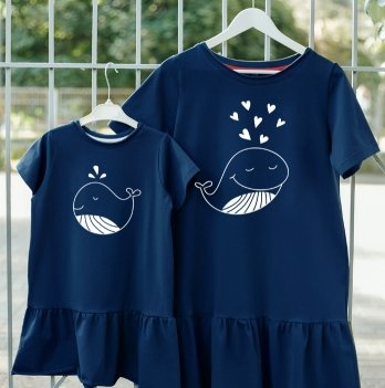 Фэмили лук платья Jolly Bully для Мамы и Дочки Киты