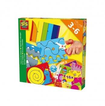Набор для творчества Ses, УЧУСЬ ВЫРЕЗАТЬ (16 картинок для игры, безопасные детские ножницы)