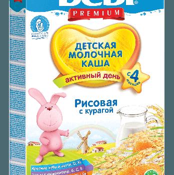 Каша рисовая Kolinska Bebi PREMIUM, молочная, с курагой 250 г