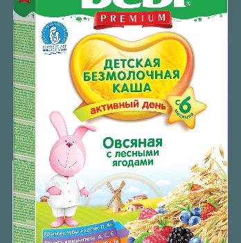 Каша овсяная Kolinska Bebi PREMIUM, безмолочная, с лесными ягодами 200 г