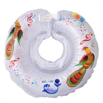 Музыкальный круг для плавания Дельфин Premium для детей от 0-36 месяцев, весом 2-22 кг.