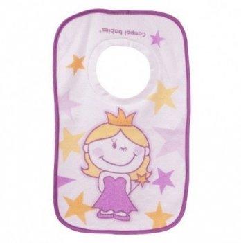 Слюнявчик Canpol babies Принцесса/Рыцарь, хлопковый