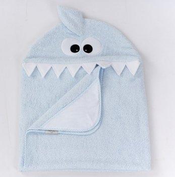Полотенце для купания с акулой ТМ Sasha, голубое