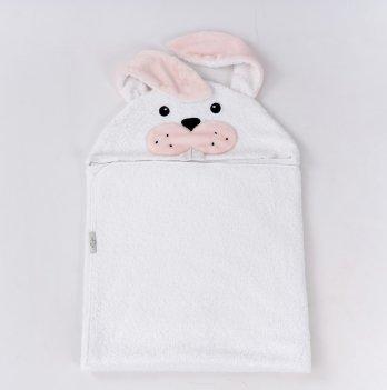 Полотенце ТМ Sasha, Зайка, белое с розовым