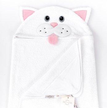 Полотенце ТМ Sasha, Кошечнка, белое