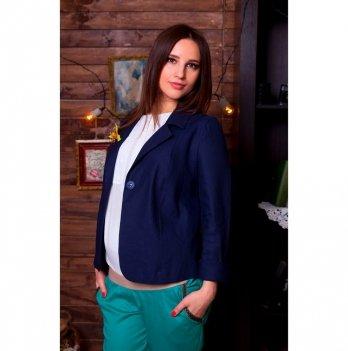 Пиджак для беременных NowaTy Синий лен Синий