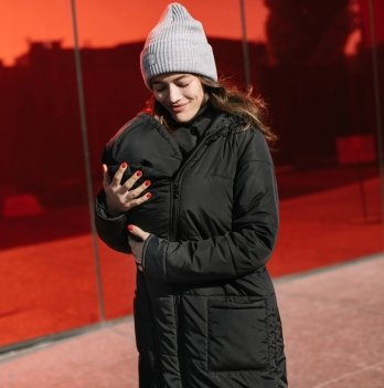 Слингокуртка зимняя 3 в 1 Love & Carry LCM2801 Черный