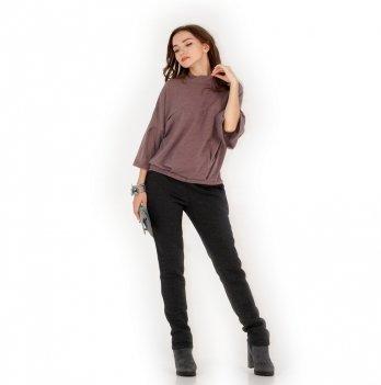 Теплые штаны для беременных NowaTy Комфорт Серый