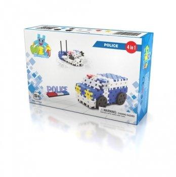 Развивающий 3D конструктор Meli Basic 4в1 Полиция