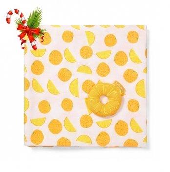 Муслиновая пеленка BabyOno 120х120 Апельсин 536/03