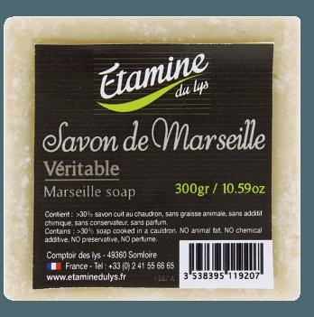 Мыло в бруске Etamine du Lys Марсель, бежевое, 300 гр