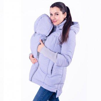 Слингокуртка демисезонная 3 в 1 для беременных и кормящих мам Lullababe, светло-серая
