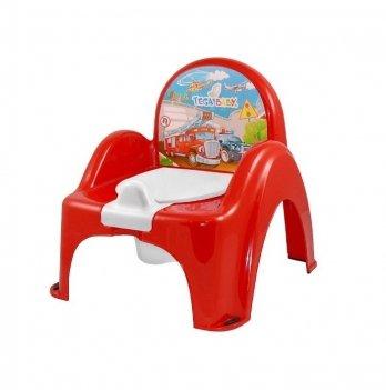 Горшок-стульчик музыкальный Tega baby Авто Красный РО-053-121