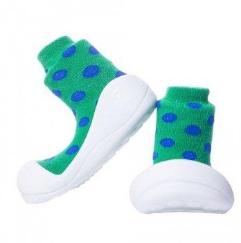 Обувь для первых шагов Polka Dot Attipas зеленый