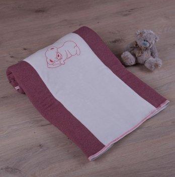 Детский плед с вышивкой Бетис Соня Красный Футер/Кулир 27076396 90х100 см