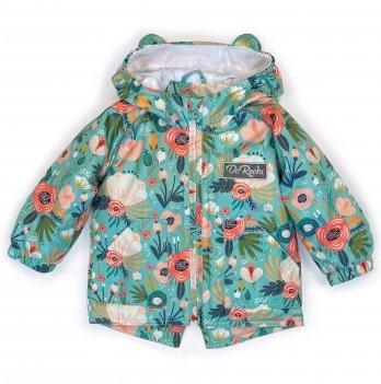 Куртка детская демисезонная ДоРечі Сказочные цветы Мятный/Розовый 9 мес - 2 года 1920
