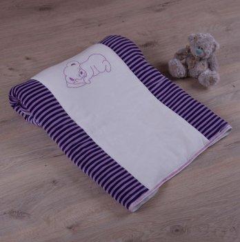 Детский плед с вышивкой Бетис Соня Малюнок Фиолетовый Велюр/Кулир 27076392 90х100 см