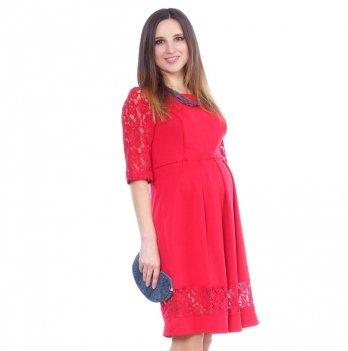 Вечернее платье для беременных и кормящих NowaTy Капля колдовства Красный