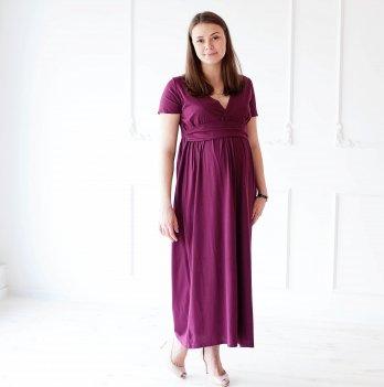 Платье для беременных и кормящих MBerry dress трикотаж бордо