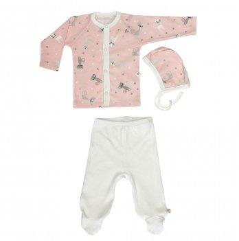Комплект для новорожденных из трех предметов, Lucky tots, Кошки, персиковый