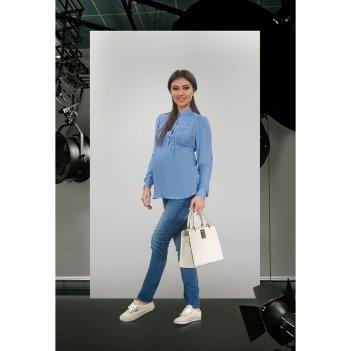 Блуза для беременных и кормящих мам Dianora голубая 1623 0088