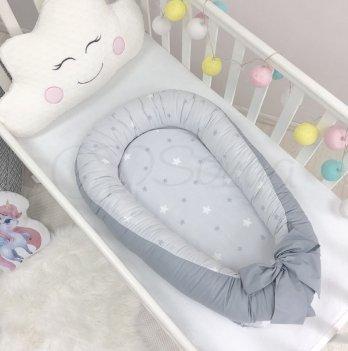 Кокон Baby Design Звезды на сером  Маленькая Соня 5019377