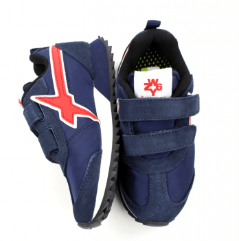 Кроссовки для мальчика Naturino, замша, темно-синие