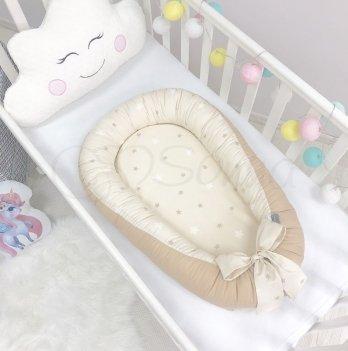 Кокон Baby Design Звезды на шоколадном Маленькая Соня 5019374