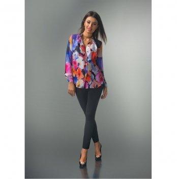 Блуза для беременных и кормящих мам Dianora черная с цветами 1668 0094