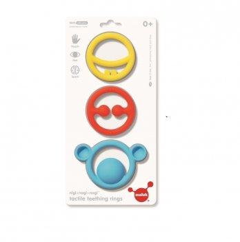 Игрушка-прорезыватель Nigi+Nagi+Nogi Moluk 43400 разноцветный 3 шт