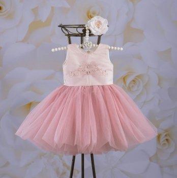 Платье Бетис Настенька Пудровый Атлас