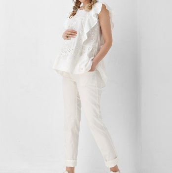 Блуза для беременных и кормящих женщин Dianora белая 1948 1102