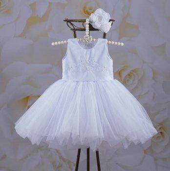Платье Бетис Настенька Белый Атлас