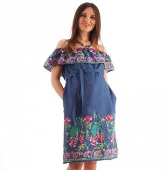 Платье для беременных NowaTy Солнечная фантазия Синий