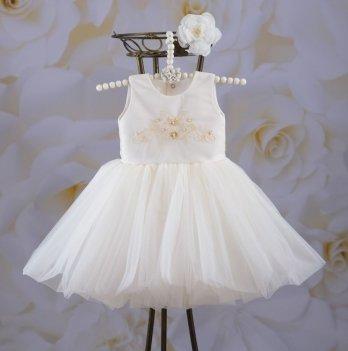 Платье Бетис Настенька Молочный Атлас
