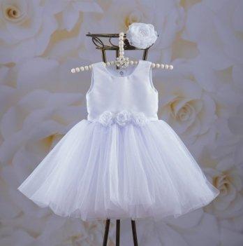 Платье Бетис Эмилия Белый Атлас