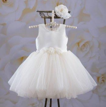 Платье Бетис Эмилия Молочный Атлас