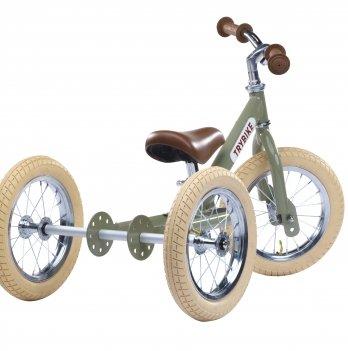 Балансирующий велосипед Trybike оливковый