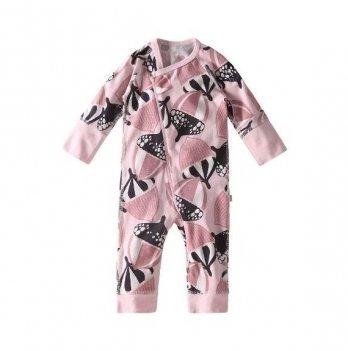 Комбинезон для новорожденных Reima NAURAA, хлопковый, светло-розовый с рисунком