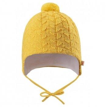Шапка зимняя для малышей Reima Lintu, 518385, желтая