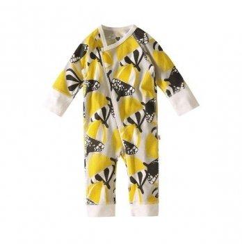 Комбинезон для новорожденных Reima NAURAA, хлопковый, желтый