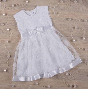 Платье Бетис Мечта кулир/гипюр Белый 27075527 1,5-3 года